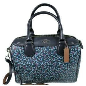NWT COACH Mini Bennett in Cornflower FLORAL RANCH